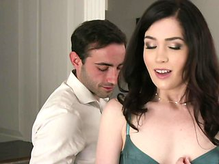 Hot housewife gets taken care of by husband's friend