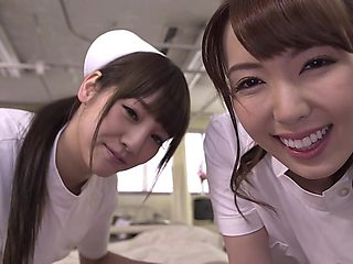 Yui Hatano with Rei Miziuna Threesome nurses