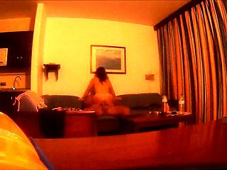 Cheating brunette milf rides a big black cock on hidden cam