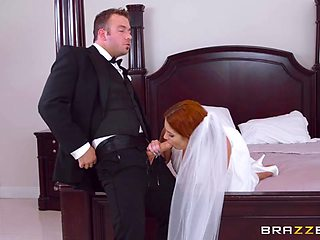 Lennox Luxe & Chad White in Dirty Bride - Brazzers