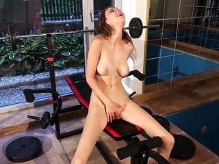 Hot BigTits Exhibitionist Teen Flashing Naked  Public Gym Pussy Orgasm