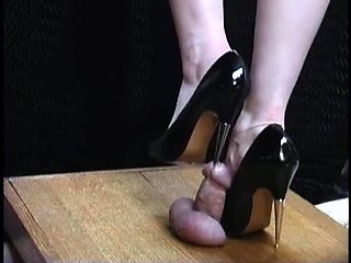 Dominant amateur lady in high heels punishes a meat pole