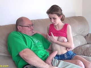 Extreme skinny gf tight pussy gets rough and deep fucked
