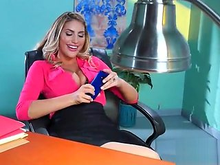 Office Girl (August Ames) With Big Round Melon Tits Like Sex mov-08