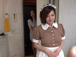 Sexy Oriental Maid in erotic hotel scene
