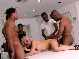 Milf gets bbc bukkaked after gangbang