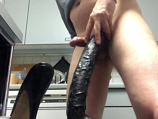 Riding my monster Dildo wearing my High Heel Mules