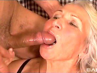 Big tits granny gets humped till orgasm by hung stud
