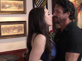 Big natural tits pornstar Angela White fucke by a stranger