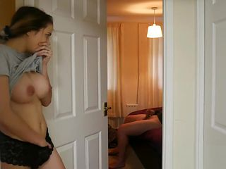 Naughty Stepdaughter 1: Spying on Stepdad jerking off!