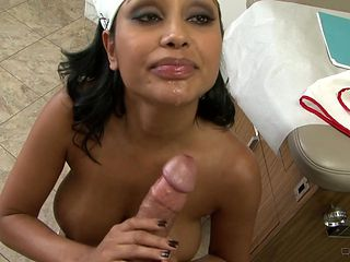 Brunette Tommy Guns with massive hooters shows her slutty side in hardcore action