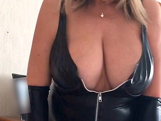 LINDA in black latex again
