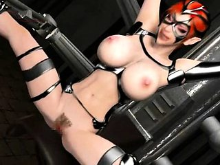 Busty anime slut gets tied up and fucked hard
