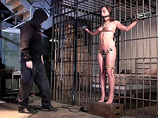 Ball gag keeps Roxanne Rae quiet while getting pleasured with toys