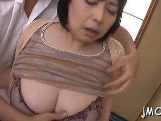 Lovely mature gal misuzu tomizawa gets filled with fang
