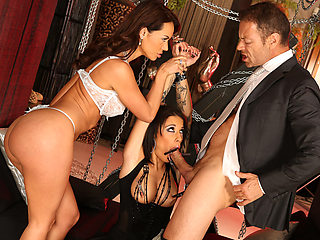 Rocco brags his sex slave to Franceska turning it into a hot threesome