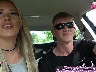 german blonde milf hitchiker outdoor fuck at car