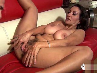 Giant breast brunette Persia banged hard