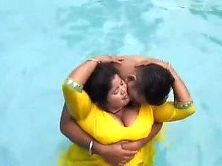 Desi swimming pool fun