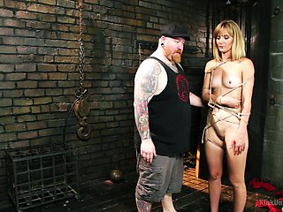 Cute blonde babe Mona Wales loves to be used as a sex slave