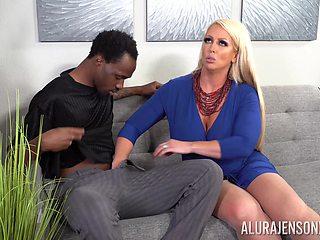 Big fake tits pornstar Alura Jenson loves to have sex with a BBC