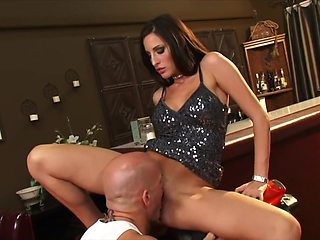 Bartender Kortney Kane Gets Her Pussy Licked On A Honda CBR Super Bike HOT