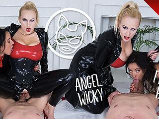 CzechVRFetish 165 Latex Angel With a Slave