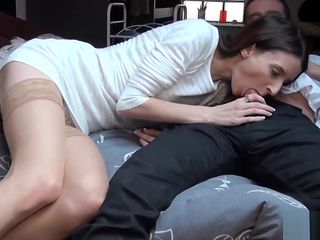 Pauline, a petite brunette gets fucked in every room of her