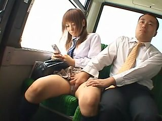 Hottest Japanese model Akane Mochida, Rina Himekawa in Crazy Teens, Bus JAV clip