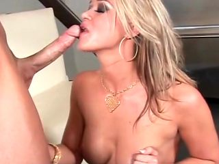 Orgasm craving VIP blonde slut mouth fucking horny dick