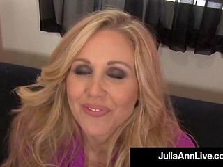 Mesmerizing Mommy Julia Ann Spews Cum On Feet After Blowjob!