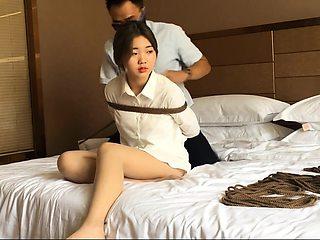 Bound bdsm fetish slave slut fucked by master