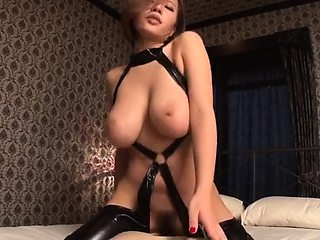 Shagging a Japanese fetish model with nicest big tits ever