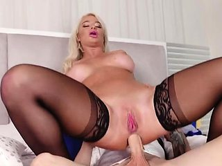 Busty stepmom London River takes hard cock up her milf ass