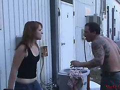 Red&#039s 1st beatdown brutal outdoor beating