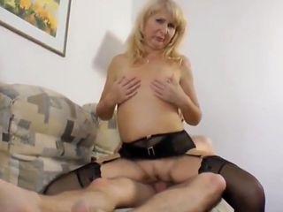 Skinny Nerd with Big Dick Fucks Naughty & Shameless MILF