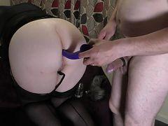 Multiple Anal Orgasms - BBW Big Ass Destroyed with Juicy Creampie Ending 4K