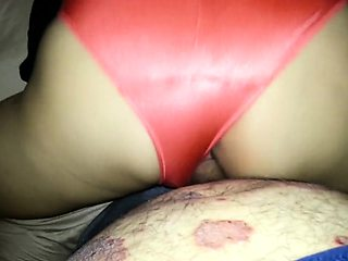 Sensuous mature lady in red panties gets nailed doggystyle