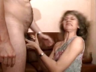 Cougar blonde gets fucked in stockings