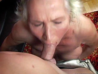 Granny Norma masturbating facefuck cumshot