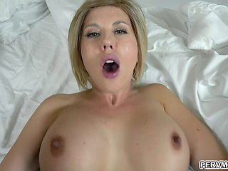Amber Chase loves to fuck like a pornstar with her stepson