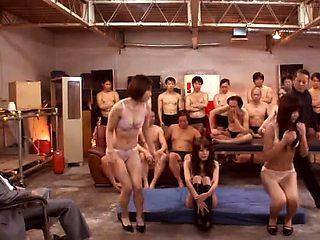Lustful Oriental sluts get their tight holes drilled rough