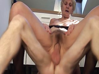 Horny 83 years old mom fucked by stepson