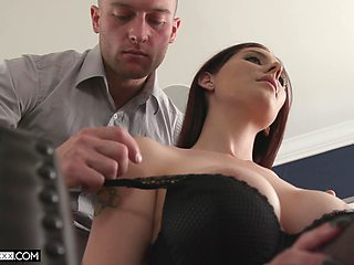 Undoubtedly sexy redhead with big juicy tits loves to fuck and get fucked