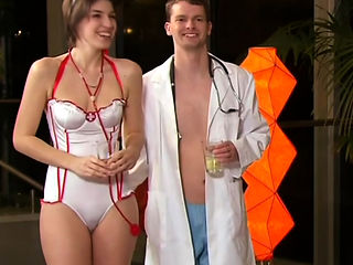 Roleplay with swingers dressed as nurses