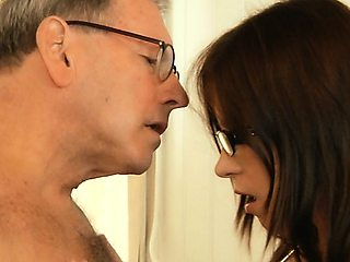 Young lady doctor fucking old patient