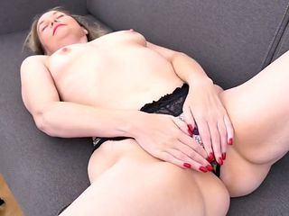 Masturbation time with amazing mature mother