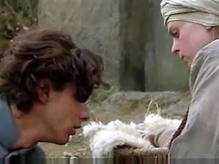 Young mother offers her milk to an hungry man