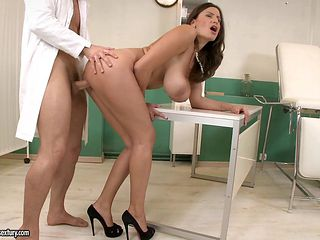 Sensual Jane gets her massive boobs fucked by a doctor