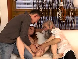 Old guy anal young girl Unexpected practice with an older ge